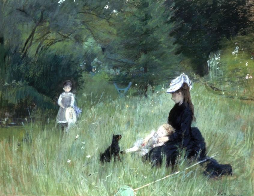 Berthe Morisot, Dans le parc, circa 1874 © Petit Palais / Roger-Viollet