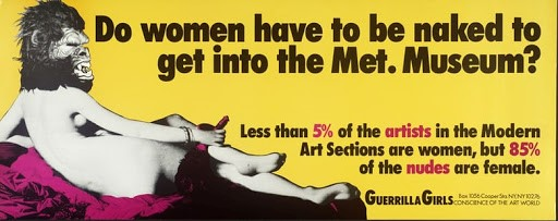 Ceci est l'affiche originale de la campagne des Guerilla Girls décrite dans l'article.