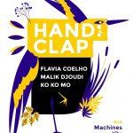 Affiche du festival Handiclap, qui se tiendra du 12 au 15 mars 2020à Nantes. Sur l'affiche, figure sur un fonds blanc un oiseau dessiné et colorié en jaune et violet. Sous le titre, les noms des artistes présents (retrouvez-les en fin d'articles) ainsi que le logo des partenaires.