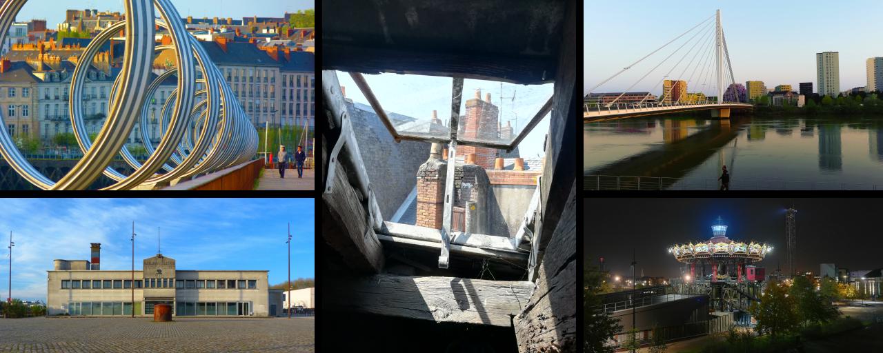 Montage photo, dont le thème est la ville de Nantes.